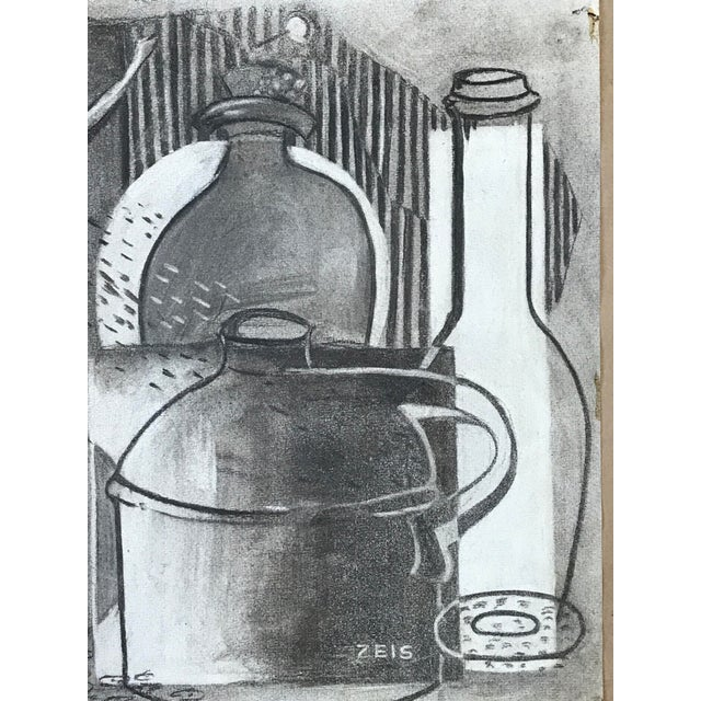 1930s Charcoal Still Life For Sale - Image 4 of 6