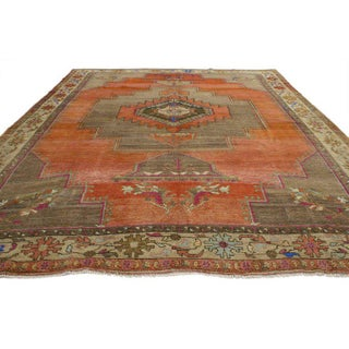 Vintage Turkish Mid-Century Modern Style Oushak Rug - 10′2″ × 11′11″ Preview