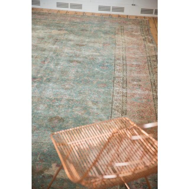 "Old New House Vintage Distressed Tabriz Square Carpet - 11'10"" X 13'11"" For Sale - Image 4 of 13"