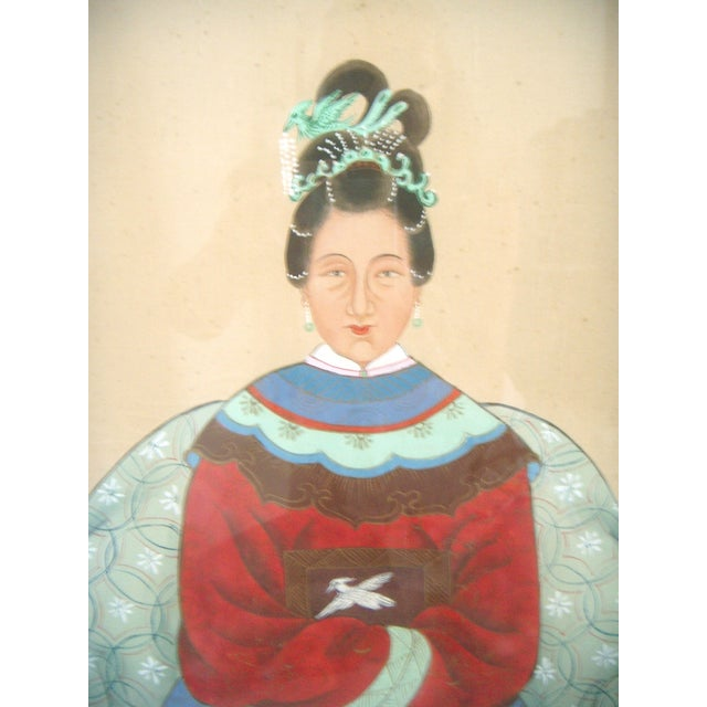 Fine Chinese Ancestor Portrait Paintings - Pair - Image 6 of 9