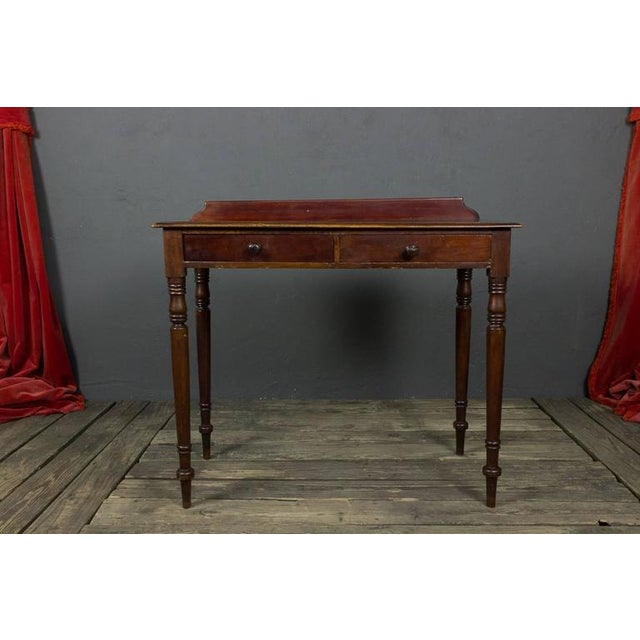 Traditional French 19th Century Mahogany Desk With Two Drawers For Sale - Image 3 of 11
