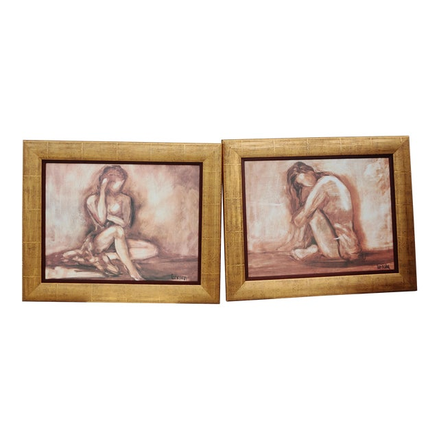 Figurative Painting Prints - Set of 2 For Sale