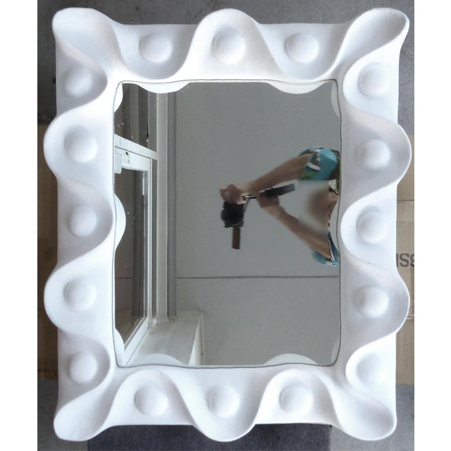 1940s 1940's Vintage Plaster Mirror in the Manner of Serge Roche For Sale - Image 5 of 5