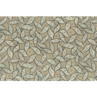 Vintage Bassett McNab Mocha Leaf Wallpaper - 10 Yard Roll For Sale