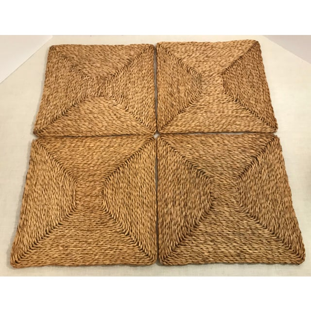 American Classical Vintage Woven Straw Placemats- Set of 4 For Sale - Image 3 of 7