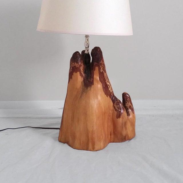 vintage mid century modern cypress root table lamp chairish