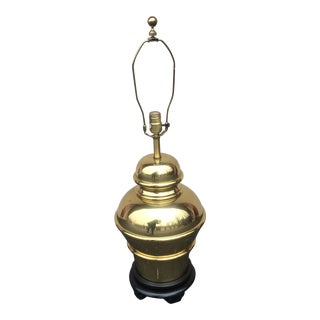 Vintage Brass Chapman Style Asian Base Lamp For Sale