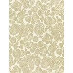 Sample, Scalamandre Elsa Linen Print, Burnished Gold Fabric