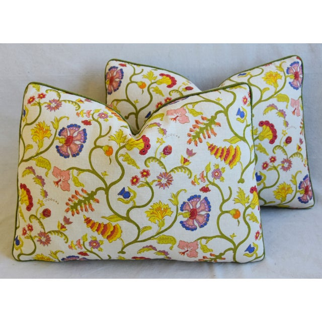 """Feather Designer Floral Raoul & Scalamadre Mohair Pillows 23"""" X 16"""" - Pair For Sale - Image 7 of 13"""
