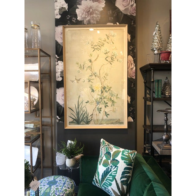 Asian Chinoiserie Framed Textile Art For Sale - Image 3 of 5