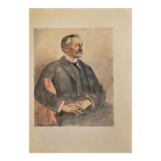M. Menpes 1901 Colonel Frank Rhodes Lithograph