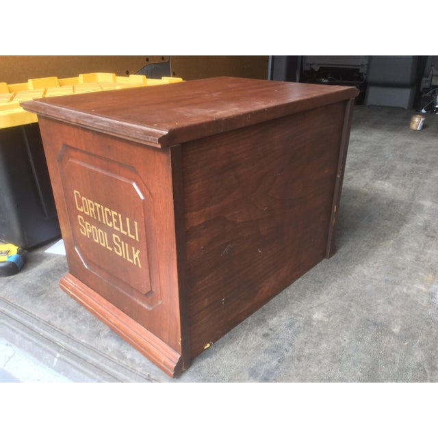 Antique Mercantile Spool Cabinet For Sale - Image 4 of 6