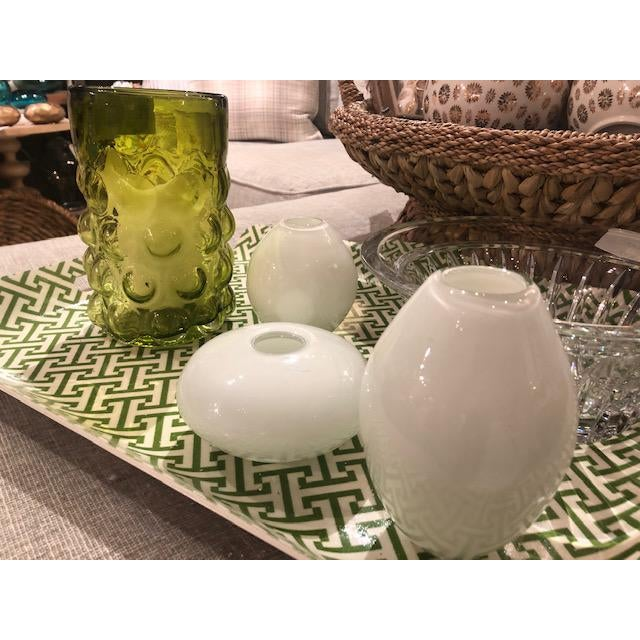 Place this beautiful glass vase set on any table or shelf and instantly add elegance and style. Fill each vase with a...
