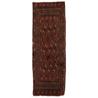 """Antique Hand Knotted Turkmen Yomut Rug - 1'3"""" x 3'3"""""""