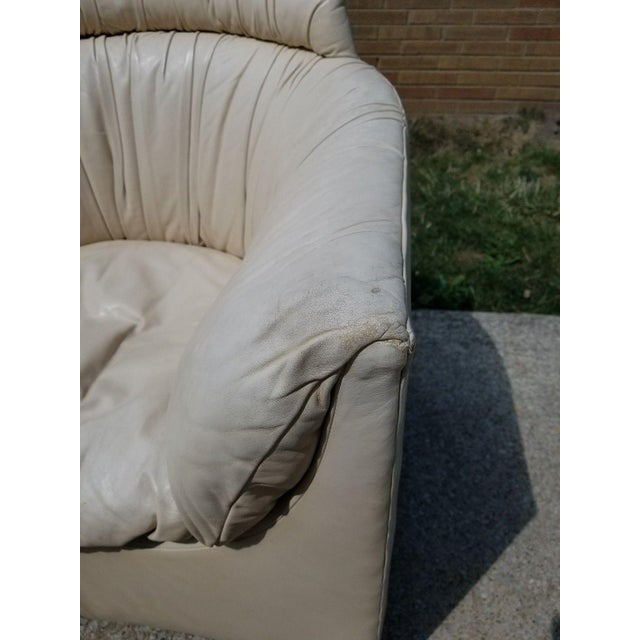 Leather John Saladino for Baker Leather Swivel Lounge Chair For Sale - Image 7 of 11