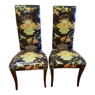 Hollywood Regency Side Chairs - a Pair For Sale