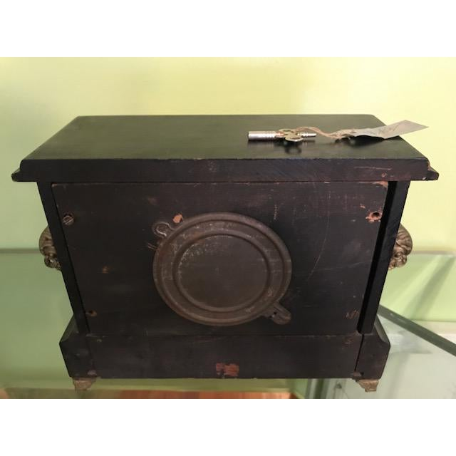 Black 1911 Mantle Clock by Wm. L. Gilbert Clock Co. For Sale - Image 8 of 8