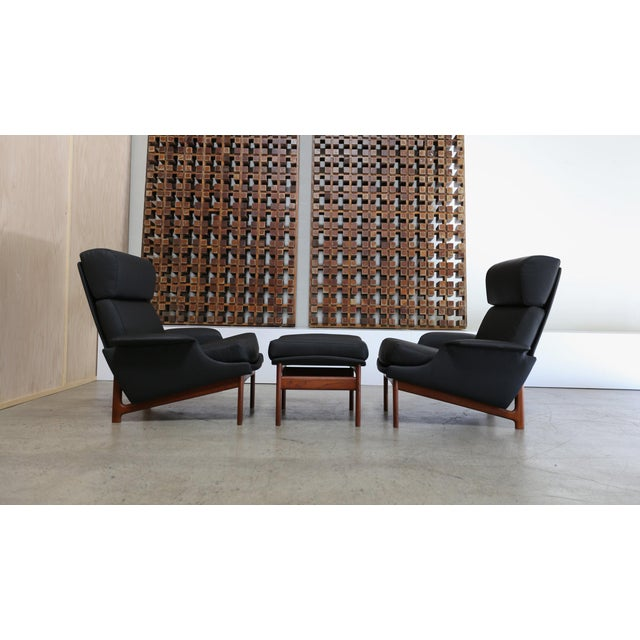 """Ib Kofod-Larsen for Mogens Kold """"Adam"""" Lounge Chairs With Ottoman - 3 Pc. Set For Sale - Image 9 of 9"""