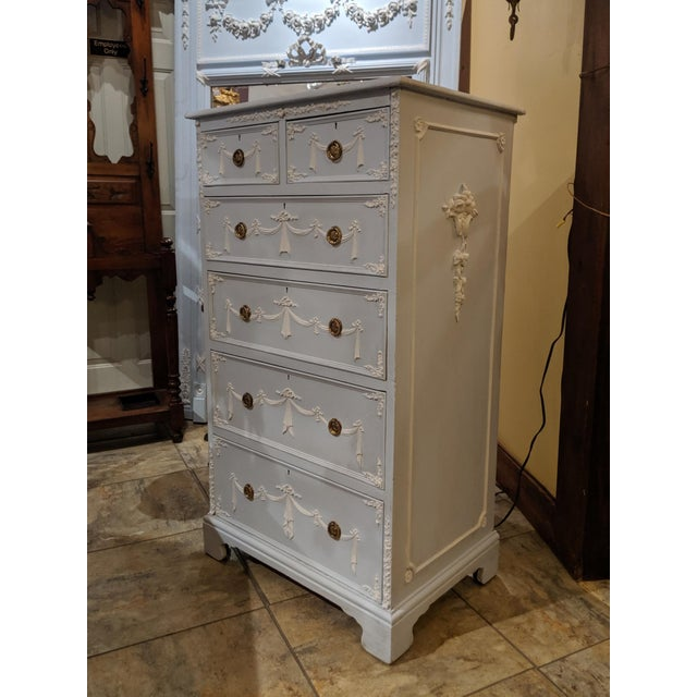 1920s Early 20th Century Adams Style Tall Chest of Drawers, English For Sale - Image 5 of 11