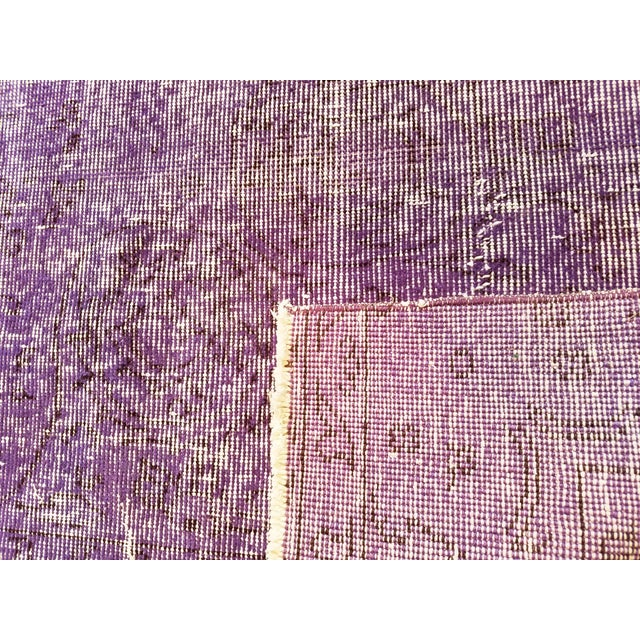 """Vintage Turkish Anatolian Overdyed Hand Knotted Organic Wool Fine Weave Rug,6'8""""x10'3"""" For Sale - Image 4 of 5"""