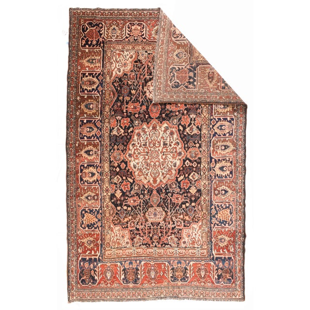 Persian Antique Red Bakhtiari Persian Area Rug For Sale - Image 3 of 4