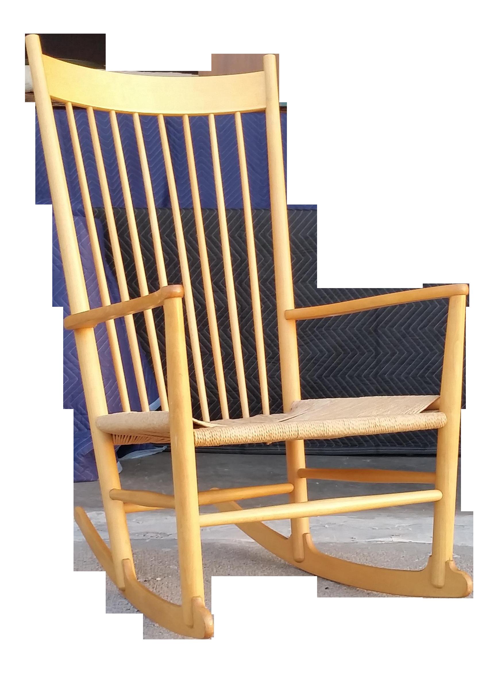 Hans Wegner J16 Beech Wood Rocking Chair