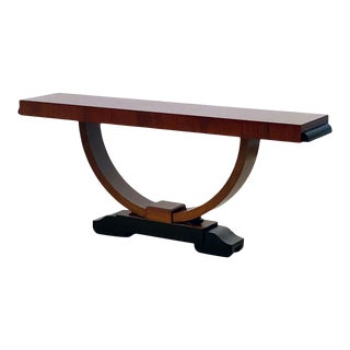 Art Deco Mahogany Console Table For Sale