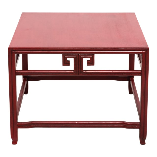 Michael Taylor for Baker Far East Red Occasional Table For Sale