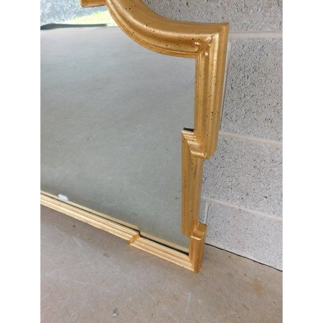"Italian La Barge Italian Gilt Gold Wood Frame Mirror 42""w X 32""h For Sale - Image 3 of 8"