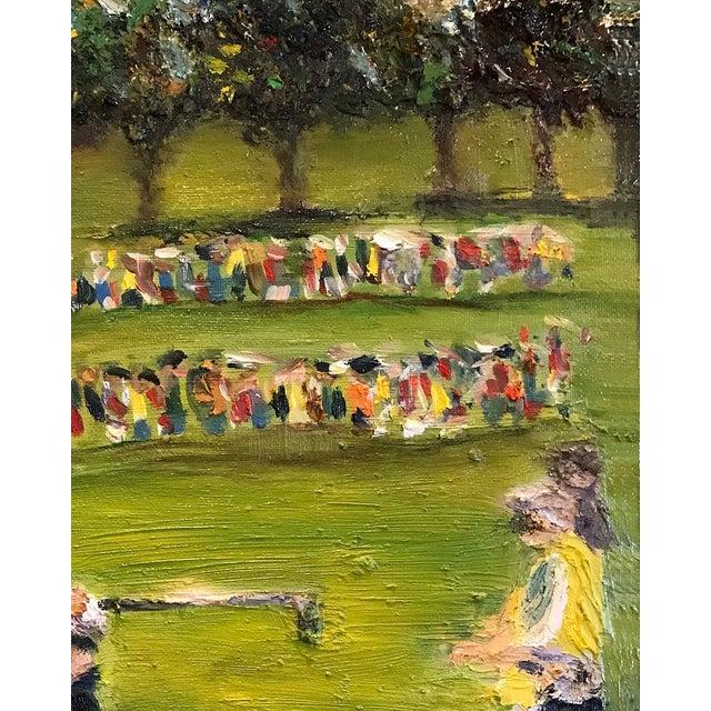 Canvas Tiger Woods Pga Golf Original Framed Oil Painting Signed Art For Sale - Image 7 of 10