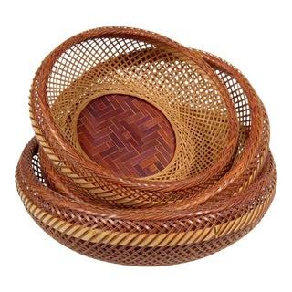 Japanese Nesting Baskets - Set of 3