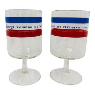 Vintage Harveys Red White & Blue Glasses For Sale