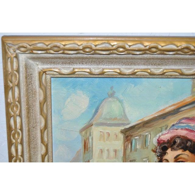 Mid-Century European Oil Painting - Image 7 of 8