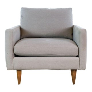 Room & Board Gray Upholstered Armchair For Sale