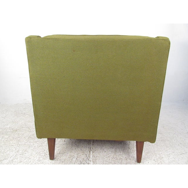 Mid-Century Modern Upholstery and Cane Armchair For Sale - Image 4 of 10