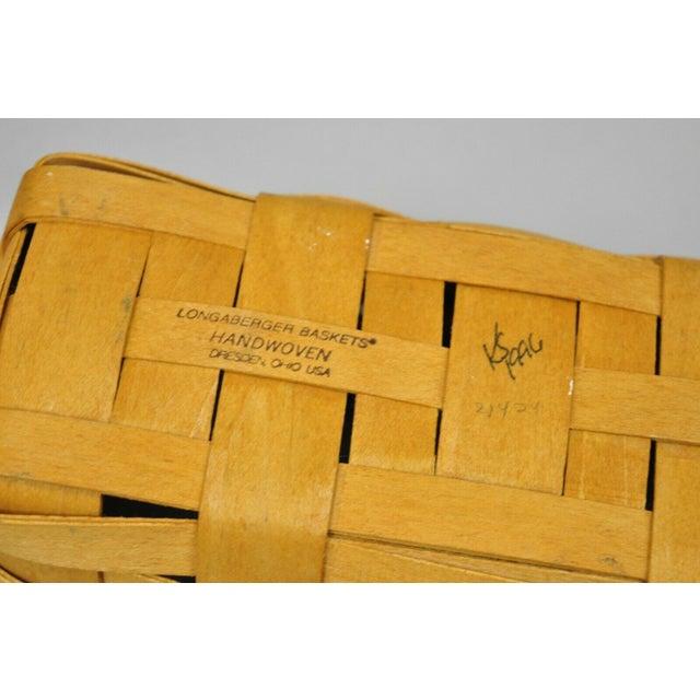 Vintage 1990s Longaberger Basket Lot Wine Berry Wall Pocket Lid Round - 9 Pieces For Sale - Image 9 of 13