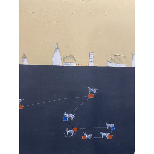 """2010s """"Alpha Cow"""" Contemporary Minimalist Abstract Acrylic Painting on Canvas For Sale - Image 5 of 7"""