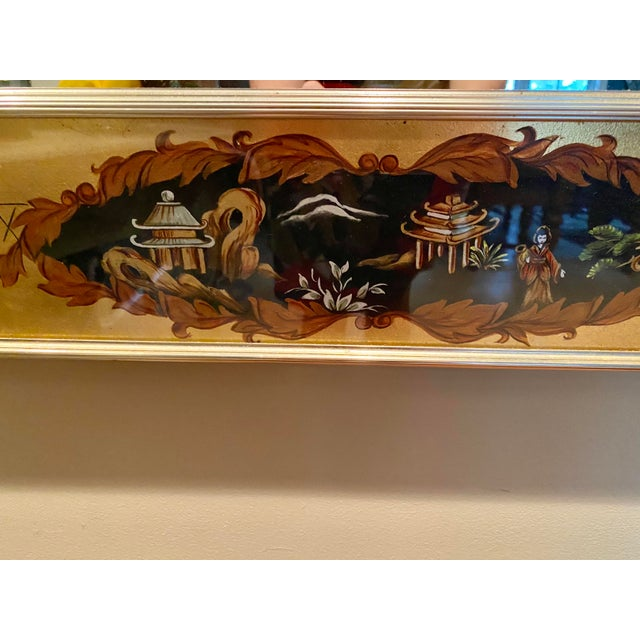 Vintage Labarge Eglomise Chinoiserie Mirror For Sale In Savannah - Image 6 of 10