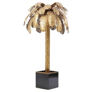 Very Impressive Brass Palm Floor Lamp by Maison Jansen For Sale
