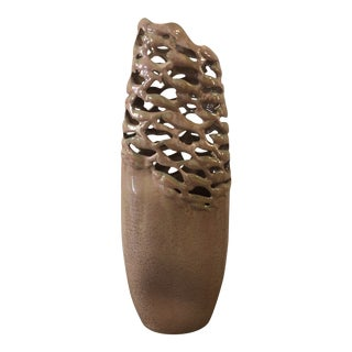 Porcelain Metallic Glazed Vase For Sale