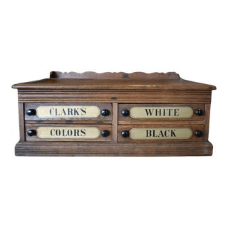 Early 20th Century Clarks Spool Cabinet For Sale