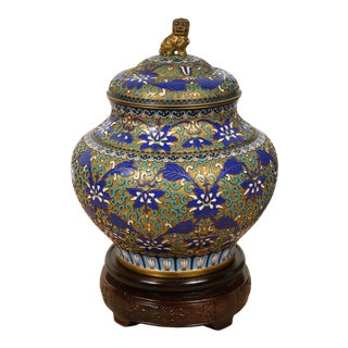 Early 20 Century Antique Chinese Hand Made Cloisonne Enamel Vase For Sale