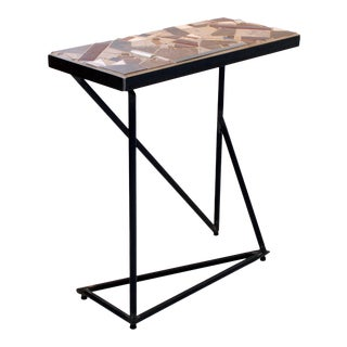 """Quixote"" Mosaic and Metal Console Table For Sale"