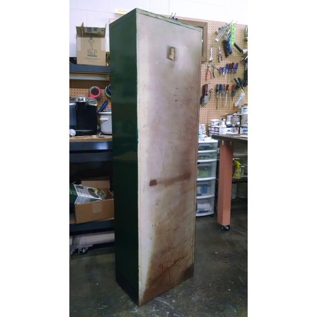 Lacquer Vintage Metal Industrial Storage Locker For Sale - Image 7 of 8