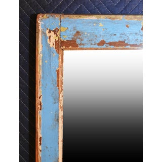 1910s Antique Rustic Window Frame Mirror Preview