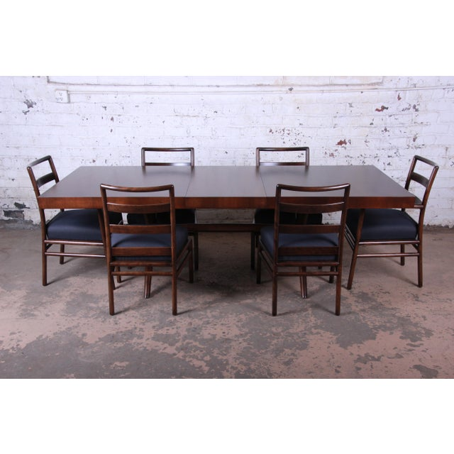 Robsjohn Gibbings for Widdicomb Mid-Century Modern Walnut Dining Set For Sale - Image 13 of 13