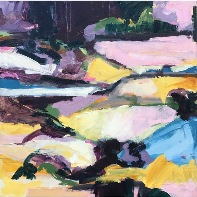 This piece is from my landscape series, a progression into a more vibrant and complex color palette; created by pulling...