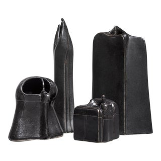 Antje Schimpfle set of four sculptural ceramic vases, Germany, 1980s