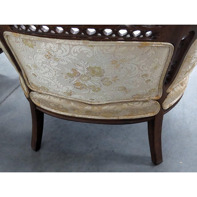 Wood Louis XV Style Marquis Chairs - a Pair For Sale - Image 7 of 12
