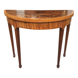 Mahogany Demi-Lune Side Table / Card Table